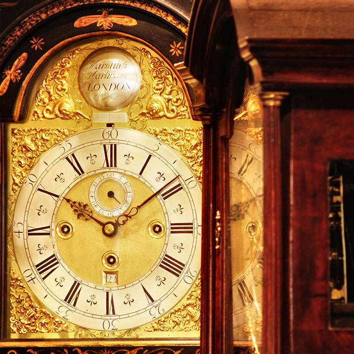 Grandfather clock face from Markwick Markham London