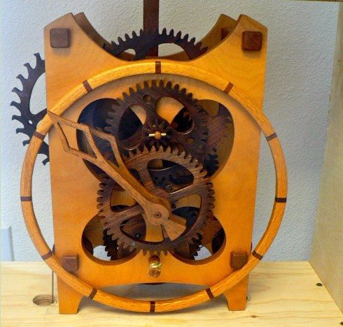 custom wooden clock